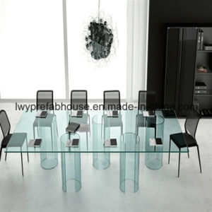 Low-E Clear Tempered Glass Table (LWY-TG34)