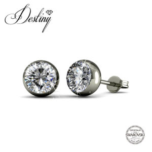 Destiny Jewellery Ncrystal From Swarovski Moon Stud Earrings
