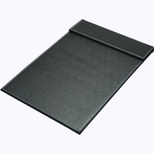 A4 Black Leather Desk Writing Pad / Signature Letter Pad pictures & photos