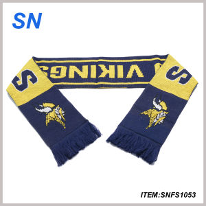 100% Acrylic Knitted Jacquard Company Logo Scarf pictures & photos