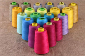 Manufacture 40/2 5000 Yards 100% Spun Polyester Sewing Thread