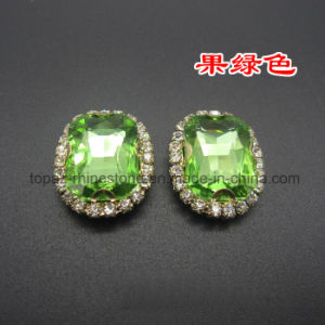 2016 Fancy Crystal in Metal Frame Sew on Rhinestone in Settings (SW-rectangle 8*10) pictures & photos