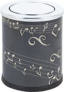 Stainless Steel Rounded Dustbin with Flip (KL-52A) pictures & photos
