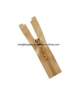 Mingfei 5# Rose-Gold Plating Brass Open End Zipper