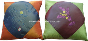 Embroidery Satin Sofa Cushion