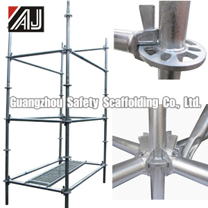 SGS Certified Steel Ringlock Scaffold, Guangzhou Manufacturer pictures & photos