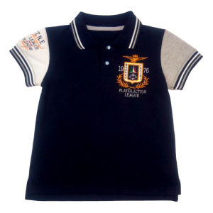 65%Cotton35%Polyester, Rib Neck Polo Shirt Children′s Clothing, Children′s Wear (PS005) pictures & photos