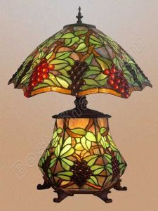 tiffany table lamp with lighting glass base and metal base tls192 19. Black Bedroom Furniture Sets. Home Design Ideas