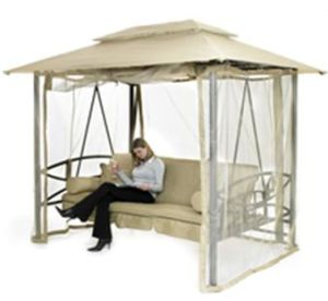 Luxor Steel Swing Gazebo
