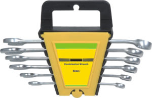 6pcs Combination Spanners Set with Plastic Hanger (DR-WH201)