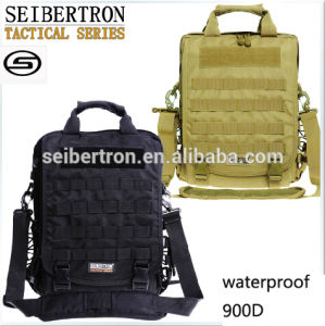 "Seibertron Waterproof Molle Tactical 14"" (inch) Laptop Sling Bag Backpack --Tan, Black"