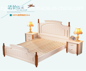 Wood Frame Double Wood Bed/High Quality Wood Bed/Bedroom Furniture Wood Bed Cx-Wb06 pictures & photos