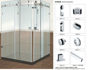Bathroom Glass Sliding Door Accessories B004 for Shower Room pictures & photos