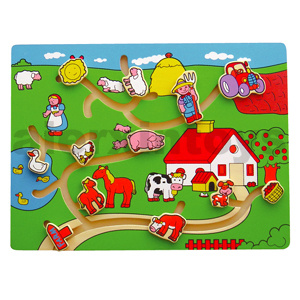 Wooden Tracing Puzzle Wtih Farm Animals (80131) pictures & photos