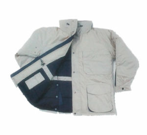 Multi-Pockets Waterproof PU Winter Coat (HS-J006)