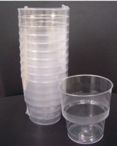 8oz PS Plastic Tumbler Disposable Injection Glass Plastic Disposable Glass pictures & photos