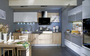 Melamine Finished Kitchen Cabinets Made in China pictures & photos