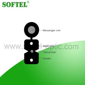 8 Core G657A FRP/Steel Strength Member FTTH Outdoor Drop Cable pictures & photos