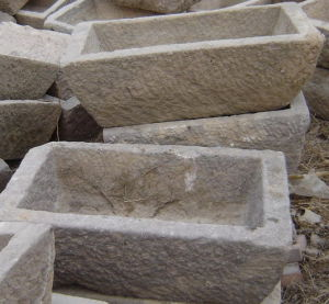 Old Trapezoid Stone Trough Marble (SH860) pictures & photos