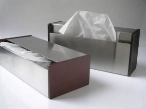 Custom Stainless Steel Tissue Box with Competitive Price pictures & photos
