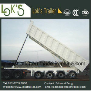 45cbm 4 Axles Rear Dump Tipper Semi Trailer pictures & photos