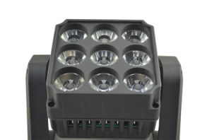 10W*9PCS LED Moving Head Beam Light for DJ Stage Studio pictures & photos