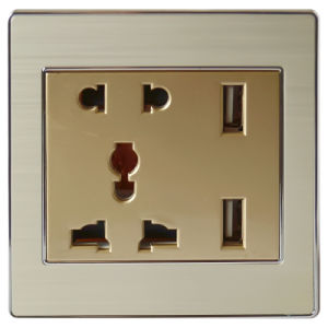 2400mA CE RoHS Electrical Wall Socket (US, UK, SAA)