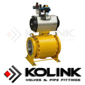 Pneumatic Ball Valve, Cast Steel Trunnion Ball Valve,