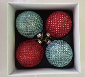 Handmade Glitter Glass Ball Christmas Decoration pictures & photos