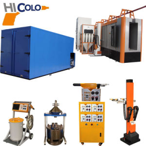 Semi-Automatic Powder Coating Line with Gas Curing Oven pictures & photos