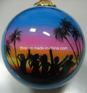 Beautiful Seashore (Glass Christmas Balls with hand painting)