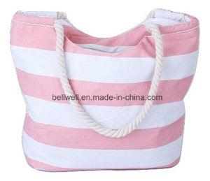 Large Capacity Tote Striped Canvas Wine Bag pictures & photos