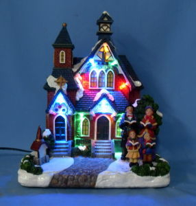 "9""LED Christmas Church.  (11009)"