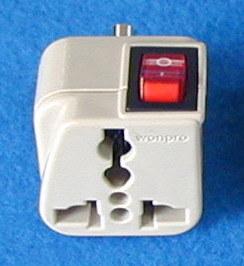 Universal Travel Adapter W/Switch (WSA-9.IY)