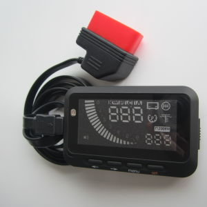 Hud Head up Display with Fuel Consumption Water Temperature Speed OBD II Connector Updated Version (ASH-3S) pictures & photos