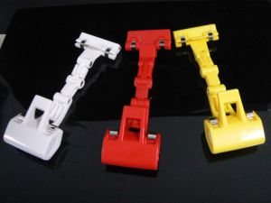 Custom Supermarket Colored Plastic Clip Holder for Price Display