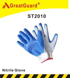 Budget Smooth Surface Nitrile Glove (ST2010B) pictures & photos