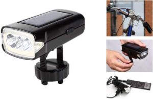 Solar / Dynamo Bike Headlight with Mobile Phone Charger