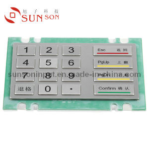 16 Key Glass Pearl Surface Kiosk Metal Keypad (SNK160A)