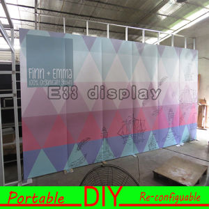 Aluminum Structure Magic Tape Attached Portable and Easy Install Standard Exhibition Stand pictures & photos