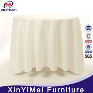 Wholesale Cheap Round Polyester White Table Cloth for Banquet Wedding pictures & photos