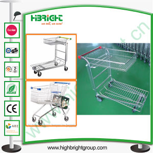 Zinc Plated Warehouse Platform Trolley for African Market pictures & photos