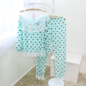 Printed Sleepwear Set for Ladies (OEM) pictures & photos