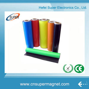 Flexible Colorful PVC Adhesive Rubber Magnet Roll pictures & photos
