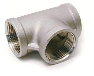 Stainless Steel Casting Female Thread Tee Equal Tee (NPT, BSP, BSPT, G thread)