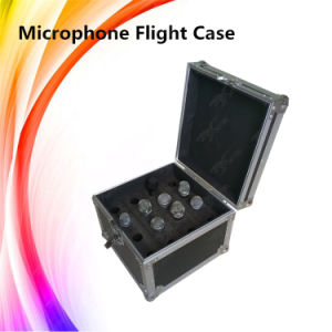Portable Wire Microphone Case Plywood Flight Case pictures & photos