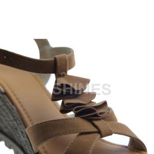 Camel Ladies PU Suede Fashion High Heel Sandal pictures & photos