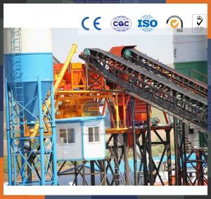 75m3 Hopper Concrete Mixing Batching Plant with Twin Shaft Mixer pictures & photos