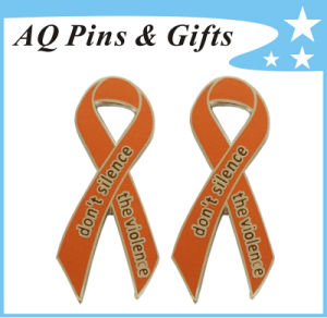 Custom Awareness Ribbon Pin in Good Price&Quality (badge-135) pictures & photos