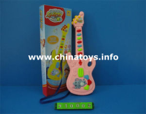 Battery Operated Plastic Guitar with Music, Light (910002) pictures & photos